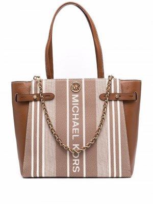 Большая сумка-тоут Carmen Michael Kors. Цвет: коричневый