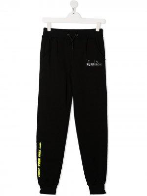Спортивные брюки кроя слим Diadora Junior. Цвет: черный
