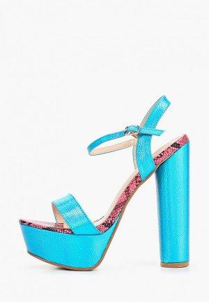 Босоножки Sergio Todzi. Цвет: голубой