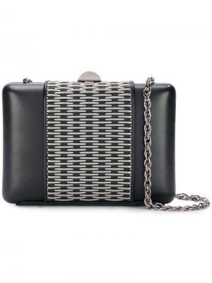 Metal appliqué clutch bag Rodo. Цвет: черный