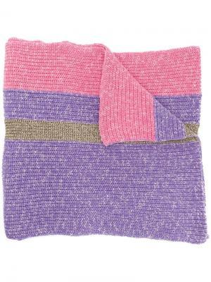 Объемный шарф с полосками Cashmere In Love. Цвет: розовый