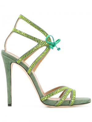 High heel sandals Marc Ellis. Цвет: зеленый