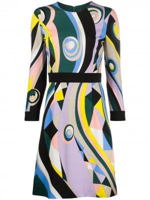Короткое платье Occhi с принтом Emilio Pucci. Цвет: разноцветный