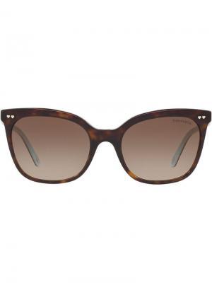 Tortoiseshell-effect square sunglasses Tiffany & Co Eyewear. Цвет: коричневый