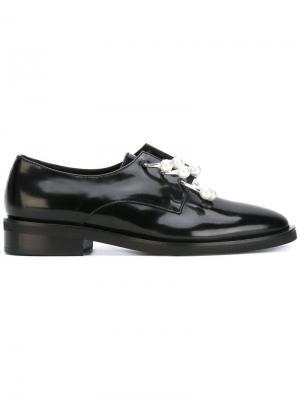 Туфли с жемчужными деталями Coliac. Цвет: чёрный