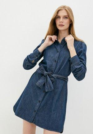 Платье джинсовое Twist & Tango. Цвет: синий
