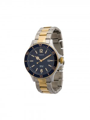 Наручные часы Harborside 42 мм TIMEX. Цвет: серебристый