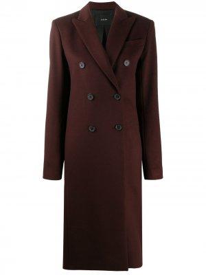 Двубортное пальто миди Joseph. Цвет: коричневый
