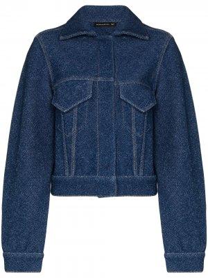 Джинсовая куртка Alled-Martinez. Цвет: синий