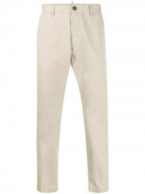 Укороченные брюки чинос кроя слим Dsquared2. Цвет: нейтральные цвета