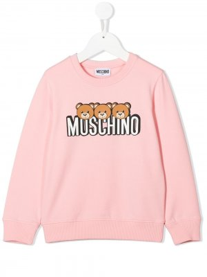 Свитер с логотипом Moschino Kids. Цвет: розовый