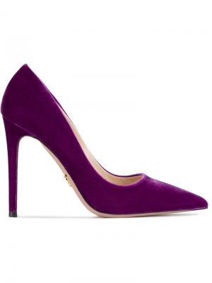Туфли с заостренным носком Prada. Цвет: розовый и фиолетовый