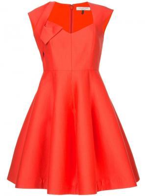 Платье с вырезом сердечком Halston Heritage. Цвет: желтый