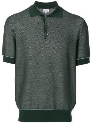 Рубашка-поло с короткими рукавами Brioni. Цвет: зеленый