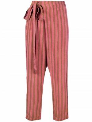 Полосатые брюки широкого кроя Uma Wang. Цвет: розовый