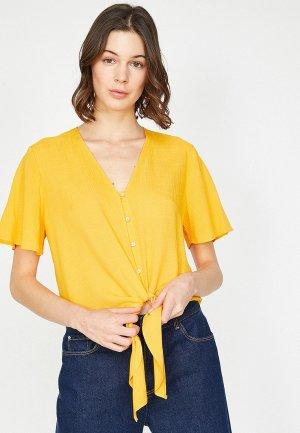 Блуза Koton. Цвет: желтый