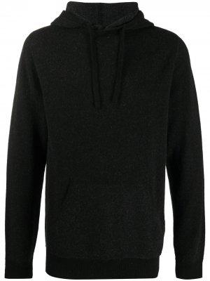 Джемпер тонкой вязки с капюшоном Aspesi. Цвет: черный