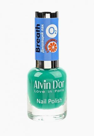 Лак для ногтей Alvin Dor D'or. Цвет: зеленый