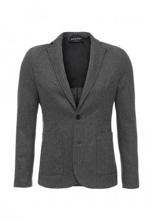 Пальто Anerkjendt. Цвет: серый