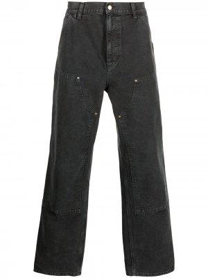 Широкие джинсы средней посадки Carhartt WIP. Цвет: черный