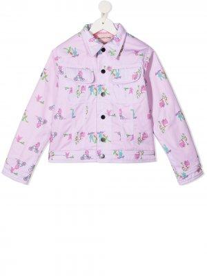 Куртка с принтом Natasha Zinko Kids. Цвет: розовый