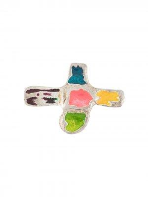 Брошь в форме креста Christian Lacroix Pre-Owned. Цвет: серебристый