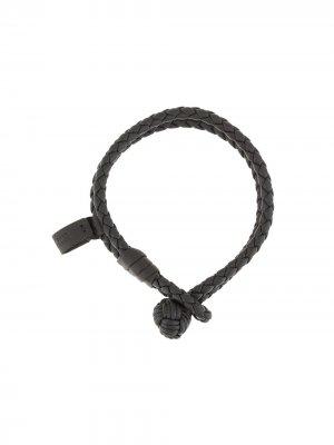 Плетеный браслет Bottega Veneta. Цвет: черный