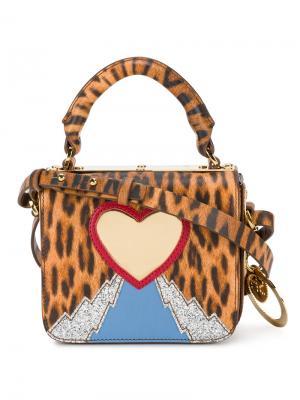Мини-сумка с леопардовым принтом Sophie Hulme. Цвет: разноцветный