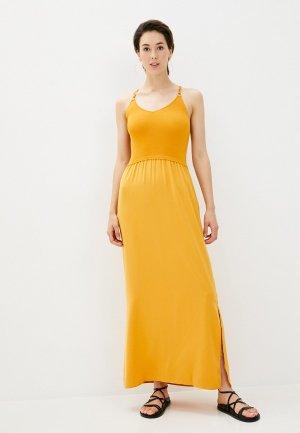 Платье Morgan. Цвет: желтый