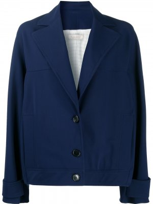 Однобортный пиджак свободного кроя Nina Ricci. Цвет: синий