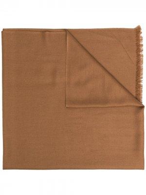 Кашемировая шаль N.Peal. Цвет: коричневый