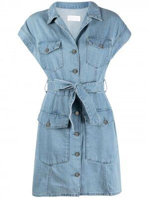Джинсовое платье  Joe Boyish Jeans. Цвет: синий