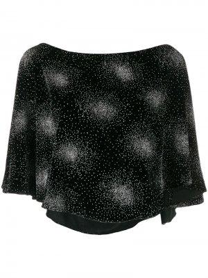 Бархатная декорированная блузка Sonia Rykiel. Цвет: черный