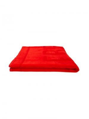 Пляжное полотенце с логотипом Vilebrequin Kids. Цвет: красный