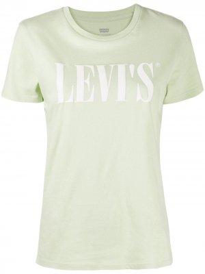 Levis футболка с логотипом Levi's. Цвет: зеленый