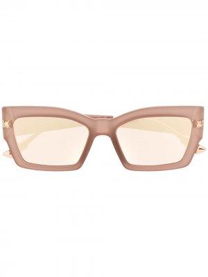 Солнцезащитные очки Cat Style Dior Eyewear. Цвет: розовый