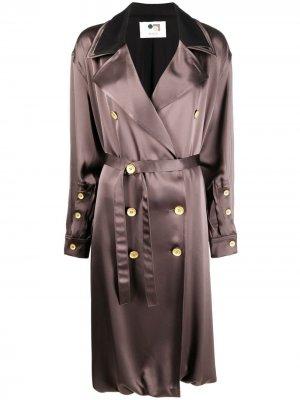 Двубортное пальто с широкими лацканами Ports 1961. Цвет: коричневый