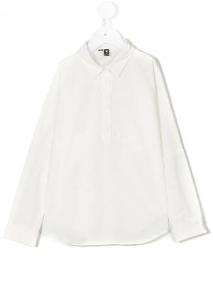 Классическая приталенная рубашка European Culture Kids. Цвет: белый