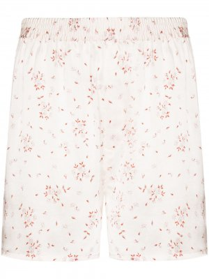 Пижамные шорты с цветочным принтом Frankies Bikinis. Цвет: розовый