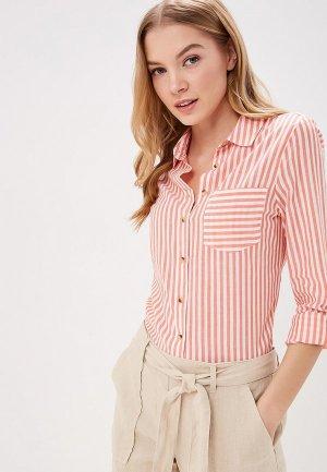 Рубашка Marks & Spencer. Цвет: коралловый