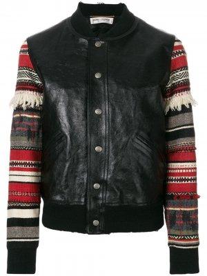 Куртка Teddy Saint Laurent. Цвет: черный