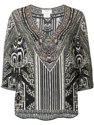 Блузка с принтом Camilla. Цвет: зеленый