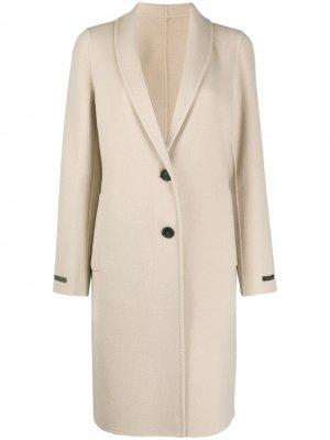 Однобортное пальто Peserico. Цвет: нейтральные цвета