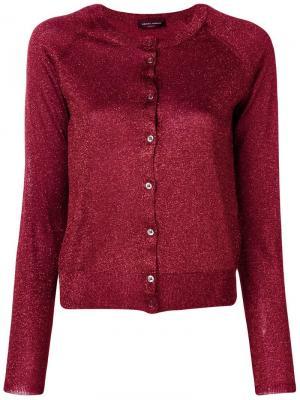 Long-sleeve fitted cardigan Roberto Collina. Цвет: красный