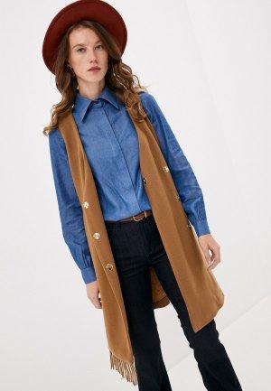 Жилет Trussardi Jeans. Цвет: коричневый