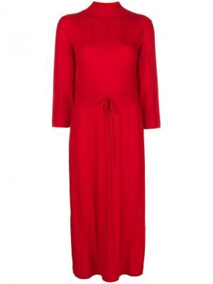 Ребристое платье миди Vivianne A.P.C.. Цвет: красный