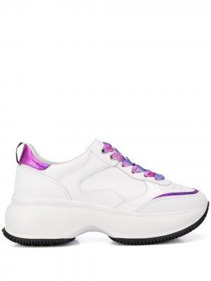 Кроссовки на платформе с эффектом градиента Hogan. Цвет: белый