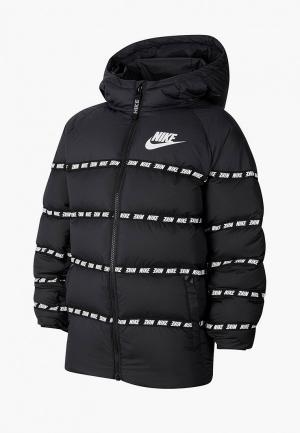 Пуховик Nike. Цвет: черный