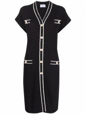 Short sleeve cardigan dress Salvatore Ferragamo. Цвет: черный