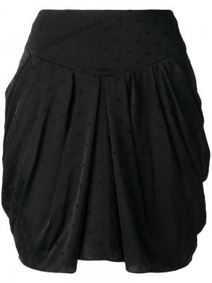 Мини-юбка с драпировкой Fil Coupé Saint Laurent. Цвет: черный